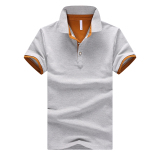Sale Korean Style Cotton Slim Fit Polo T Shirt Gray Oralead On China