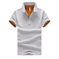 Deals For Korean Style Cotton Slim Fit Polo T Shirt Gray Oralead