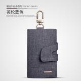 Korean Style Cowboy Cloth Female Car Key Package Key Bag British Blue Free Shipping