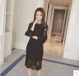 Price Comparisons Korean Style Elegant Female Long Sleeved A Line Dress Dress White