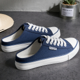 Get The Best Price For Women S Korean Style Heelless Lazy Shoes Dark Blue Color Dark Blue Color