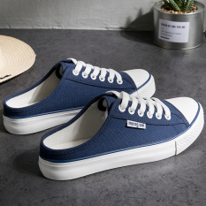 The Cheapest Women S Korean Style Heelless Lazy Shoes Dark Blue Color Dark Blue Color Online