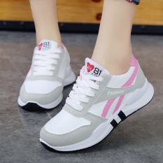 Women S Korean Style Breathable Running Shoes Pink Pink Deal