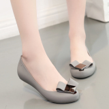 Who Sells The Cheapest Women S Korean Style Waterproof Non Slip Plastic Flat Sandals 379 9 Gray Standard Code 379 9 Gray Standard Code Online