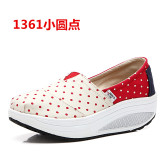 Discount Women S Korean Style Platform Canvas Shake Shoes 1361 Small Dot 1361 Small Dot Other China