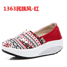Price Comparison For Women S Korean Style Platform Canvas Shake Shoes 1363 National Style 1363 National Style