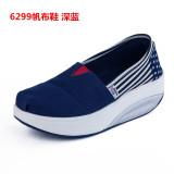 Price Comparisons For Women S Korean Style Platform Canvas Shake Shoes 6299 Dark Blue 6299 Dark Blue