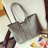 Compare Korean Style Large Capacity Shoulder Handbag Stylish Women S Bag Gray Prices