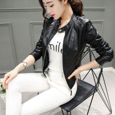 Sale Korean Style Leather Collar Slim Fit Leather Jacket Leather Oem Cheap