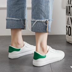 Who Sells Korean Leather Bound Female Autumn Men S Casual Sneaker Sneakers White And Green White And Green Cheap