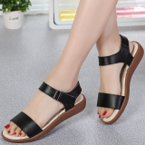 Price Korean Style Leather Female Student Maternity Shoes Sandals Black Other Original