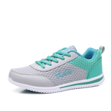 Cheapest Women S Korean Style Flat Waterproof Non Slip Leather Sports Shoes 958 Mesh Gray Green 958 Mesh Gray Green Online