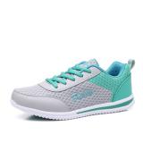 Sale Women S Korean Style Flat Waterproof Non Slip Leather Sports Shoes 958 Mesh Gray Green 958 Mesh Gray Green Oem Branded