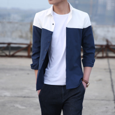 Price Korean Style Male Long Sleeve Spring Men Shirt Shirts On White Under Dark Blue Oem China