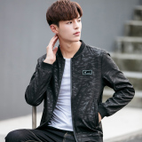 New Korean Style Male New Style Slim Fit Waistcoat Spring And Autumn Jackets Coats Lcf Black