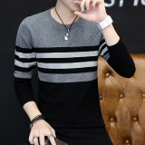 Store Korean Style Men Round Neck Student Autumn Sweater 842 Dark Gray Jxaete On China