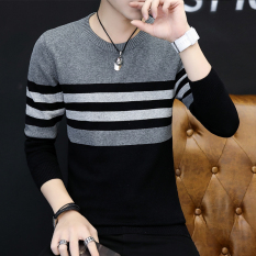 Buy Korean Style Men Round Neck Student Autumn Sweater 842 Dark Gray Jxaete Cheap