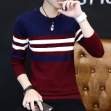 Where Can You Buy Korean Style Men Round Neck Student Autumn Sweater 842 Wine Red