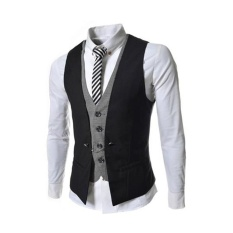 Buy Korean Style Men Slim Vest Suit Vest Waistcoat Coat Jacket Business Suits Vests Intl China