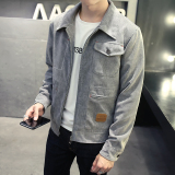 Korean Style Men Winter Slim Fit Men Jacket Gray Cheap