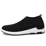 Discount Korean Style Slip On Wa Zi Xie Canvas Shoes Black 1208