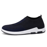 Korean Style Slip On Wa Zi Xie Canvas Shoes Black And Blue 1208 On Line