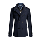 Who Sells The Cheapest Korean Style Men S Slim Fit Peacoat Coat Long Jacket Winter Outwear Tops Navy Online
