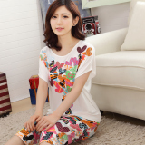 Korean Style Modal Women S Short Sleeved Can Pajama Women S Sleepwear Balloon Suit Price Comparison