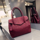 Lowest Price Korean Style Female New Style Atmosphere Hand Shoulder Bag Bags Wine Red Color