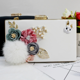 List Price Korean Style New Style Home Rabbit Fur Ball Pearl Flowers Bag Ivory Other