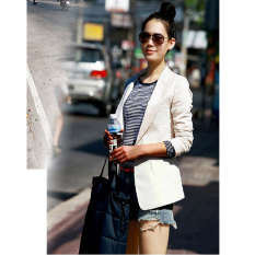 Get The Best Price For Korean Style New Style Slim Fit Female Suit Ivory