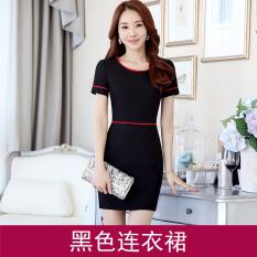 Korean Style New Style Slim Fit Ol Black Dress Dress Black Dress For Sale