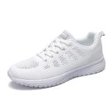Promo Korean Style Female Spring New Style Tennis Shoes Rubber Shoes Sneakers White Porous
