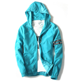 Where To Shop For Korean Men L Hooded Coat Slim Fit Jacket Sky Blue Color Sky Blue Color