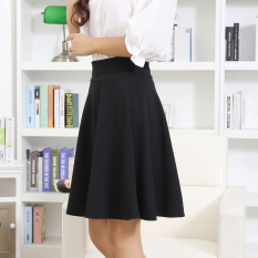 Latest Spring Summer New Style High Waisted Skirt Black With Safety Shorts