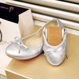 Discount Korean Style Plus Sized Scoop Shoes Shoes Silver Oem China