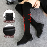 Where To Shop For Korean Style Flat High Top Stretch Classic Boots Women S Spring And Autumn Not Plus Velvet