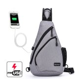 Who Sells The Cheapest Korean Style Premium Shoulder Bag With External Usb Port Phone Charger Travel Holder Grey Intl Online