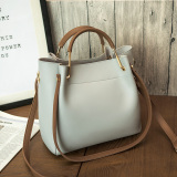 Where To Shop For Women S Korean Style Shoulder Handbag Large Bucket Bag Gray Gray