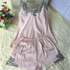 Shop For Korean Silk Female Summer Pajama Women S Sleepwear L*L*T* Powder L*L*T* Powder