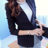 Korean Style Spring Summer New Style Slim Fit Blazer Jackets Coats Black Lower Price