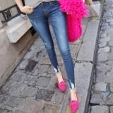 Who Sells Korean Style Slim Fit Slimming Skinny Pants Medium Waist Denim Pants Dark Blue 890 The Cheapest