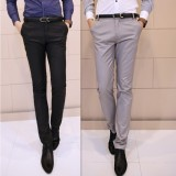 Price Comparisons Korean Style Slim Fit Type Business Dress Suit Pants Men S Trousers Gray