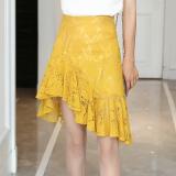 Korean Style New Style Elegant Slimming Lace Skirt Black Lower Price