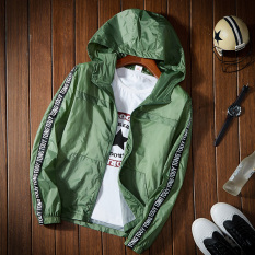 Korean Style Solid Color Thin Student Baseball Clothes Outdoor Jacket Dark Green Color Free Shipping