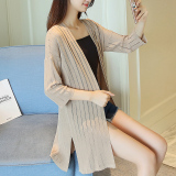 Discounted Korean Style Solid Color Spring And Summer New Style Sun Shirt Knitted Cardigan Khaki