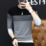 Review Korean In Spring And Autumn New Round Neck Slim Fit Sweater Men Sweater Black Black China