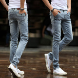 Sale Men S Korean Style Stretch Jeans Oem Wholesaler