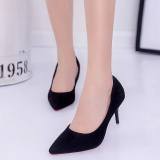 Price Korean Style Black Spring New Style Pumps Shoes Black Upgrade Version 7 Cm Oem Online