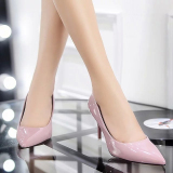 Korean Style Black Spring New Style Pumps Shoes Taro Color Best Buy